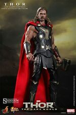 HOT TOYS THOR FIGURE LIGHT ARMOR MMS EXCLUSIVE THOR 2 THE DARK WORLD SIDESHOW