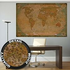 Historical World Map Poster XXL ? Wall Picture Decoration Globe Antique World