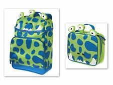 Gymboree Blue Alien Monster Backpack Lunchbox set 4 5 6 7 8 9 10 12 Blue Green