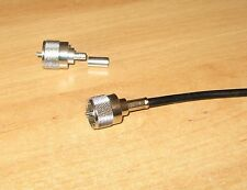 PL259 CRIMP ON PLUGS RG58 FIVE  NEW FOR RF HAM RADIO USE HF VHF UHF
