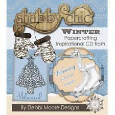 Debbi Moore Shabby Chic Invierno Manualidades con papel Inspiración CD Rom