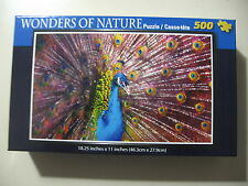500 pc Puzzle, Wonders of Nature: Peacock, Brand New & Sealed