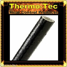 9.5mm x 1.2m Fire Flex Fiberglass Silicone Protective Heat Shield Sleeve - Black