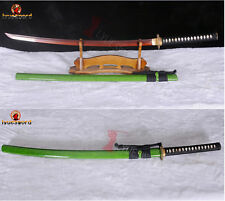 Japanese Samurai Katana Sword Clay Tempered Battle Ready Red Folded Steel Blade