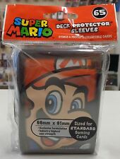 Magic Pokemon Force of Will 65 Bustine Buste Protettive Sleeves Deck SUPER MARIO