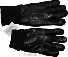 Men's Gloves, leather/knit gloves (M) Winter gloves lined leather warm gloves BN