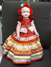 """17"""" Bisque Porcelain Hungarian European Jointed Doll"""