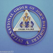 International Order Of Job's Daughters Alloy Zinc Cut Out Car Emblem