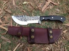 Hand Forged Custom Made 12 Inch High Carbon Steel Tracker Knife W/Micarta scale
