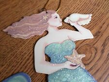 Mermaid Ornament Beach StarfishTropical Nautical Celebrate The Spirit Tin Sign