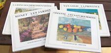 Lot 4 livres sur les Impressionnistes : Van Gogh, Monet, Cézanne, la Seine ...