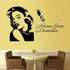 Marilyn Monroe Smiling Life Quote Wall Stickers Art Room Removable Decals