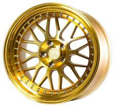 18X9.5 +30 AODHAN AH02 5X114.3 GOLD MACHINED RIMS FIT MAZDA 3 5 6 RX7 RX8 STANCE