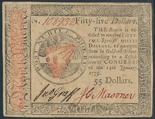 #Cc-98 $55 Xf+ Jan 14,1779 Continental Currency Hv8468