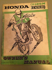 Honda CR125M Owners Manual , very rare book , 1973, Great condition .