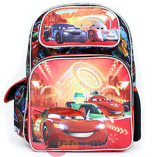 "Cars Mcqueen Large School Backpack 16"" Book Bag with Francesco - Neon Light"