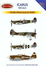 Icarus Decals 1/72 GREEK ALLIED ACES OF WORLD WAR II