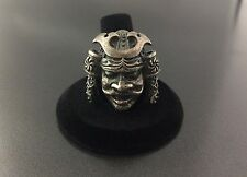 Vintage Orient Samurai Head Solid Sterling Silver Ring Size 9