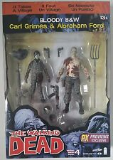 TWD Walking Dead Comic BLOODY Carl Grimes & Abraham Ford Figure 2Pk PXExclusive