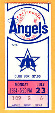 7/23/84 CAL ANGELS MIKE WITT 16 K'S TICKET STUB-MARINERS