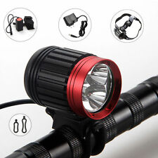 6000LM Rechargeable Bike Bicycle 3x CREE T6 LED Front Head Light Headlamp