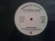 Supertramp - It's raining again 12'' US PROMO