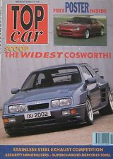 Top Car magazine 03/1992 featuring Ford Sierra RS Cosworth, Lancia, Hyper XJ-S