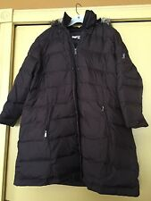 NEW DKNY Down Puffer Coat, Fur Trimmed Hood, Brown, Size 2X plus, NWOT