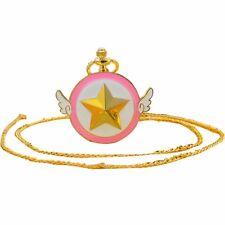Anime Card Captor Cardcaptor Sakura Kinomoto Star Wings Pocket Watch Chain Watch
