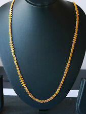 Real looking 22 ct gold plated NECKLACE LONG - Indian Chain  28 inches  X2