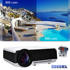 5000 Lumens Full HD 1080P LED LCD 3D VGA HDMI TV Home Theater Projector Cinema