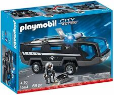 Playmobil 5564 City Action Police Tactical Command Vehicles with Lights and Soun
