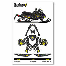 2013-2014 SKI DOO XS SNOWMOBILE GRAPHICS ROCKSTAR STYLE BY ENJOY MFG / 137 TRACK