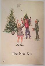 Dick & Jane Pictures to Frame The New Boy Christmas Tree Lot Parachute Toy  VTG