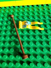 New Lego Duplo Knights Eagle and Crown Flag with Flagpole