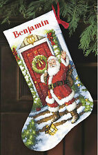Cross Stitch Kit ~ Gold Collection Welcome Santa Christmas Stocking #70-08901
