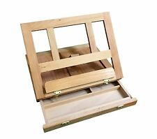 STAINDALE Wooden Beechwood Adjustable Table Top Artist's Easel with Drawer