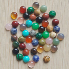Wholesale 50pcs/lot 8mm assorted natural stone round CAB CABOCHON stones beads