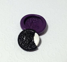 Silicone Mold Oreo Cookie M (28mm) Polymer Clay Miniature Fake Food Sweets Gummy