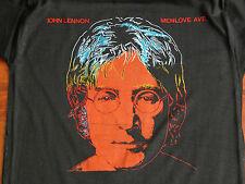 RARE Vtg 1980s JOHN LENNON MENLOVE AVE T Shirt L Andy Warhol Art DEADSTOCK