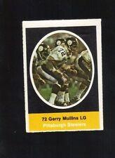 1972 SUNOCO STAMP GARY MULLINS PITTSBURGH STEELERS