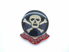 VINTAGE TON UP PIRATES ROCKERS 100 MPH TRIUMPH BSA MOTORCYCLES GB BIKE PIN BADGE