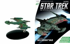Eaglemoss Diecast Star Trek Klingon IKS Negh'var  ST0047 & MAGAZINE #47 IN STOCK