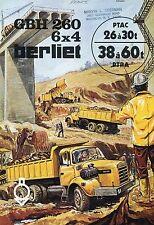 Sales brochure , Berliet GBH 260 ,6 x 4, 26/30 ton. 1974
