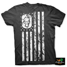 NEW HARD CORE BRANDS HARD CORE FLAG LOGO SHORT SLEEVE T-SHIRT BLACK XL