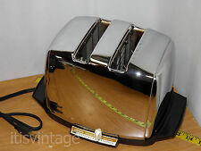 Vintage AT-W Sunbeam Radiant Heat Control Chrome Toaster Cleaned & Calibrated