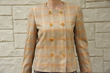Vintage 80s Escada By Margaretha Ley Plaid Blazer Jacket