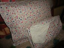 IKEA ALVINE LJUV  FLORAL RED BLUE GREEN STRIPE (2PC) TWIN DUVET & SHAM