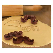 Munchstaches Cookie Cutter Molds-5 Styles- Mustache Shaped-Unique Gift Idea-NEW
