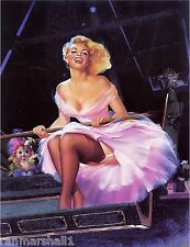 1940s Pin-Up Girl At The Carnival Picture Poster Print Vintage Art Pin Up